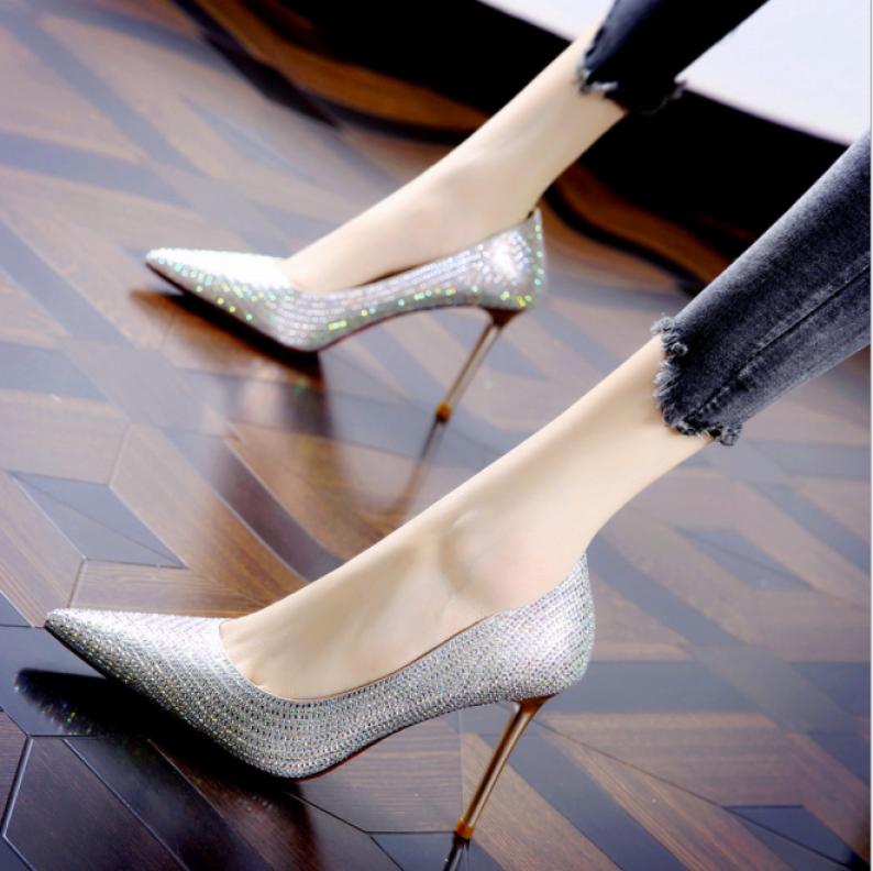 Giày cao gót khảm đá xinh giá rẻ