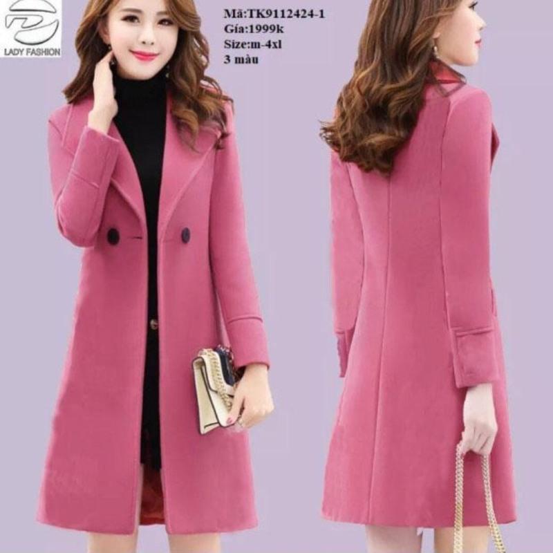 Áo khoác nữ form dài cổ vest