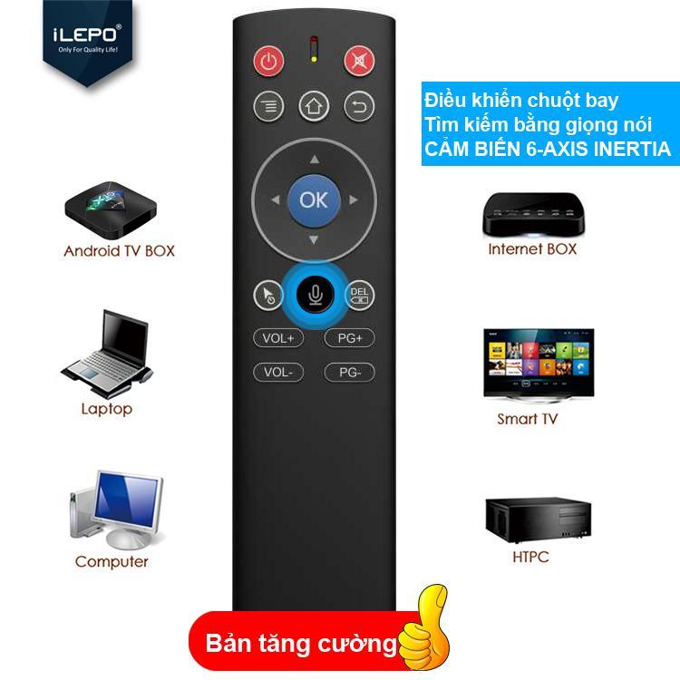 Bảng giá Remote điều khiển giọng, điều khiển chuột bay - chuyên dùng cho Android box, bảo hành 1 năm 1 đổi 1 ILEPO  AIR MOUSE Điện máy Pico