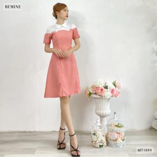 Đầm cổ sơ mi phối trắng BEMINE MT1899HONG thumbnail