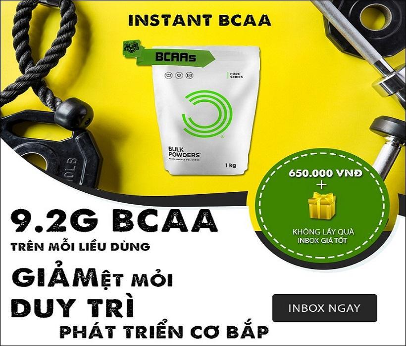 Pure BCAA  Bulk Powders Phục Hồi Tăng Cơ Giảm Mỡ Hỗ Trợ Cho Quá Trình Tập Luyện Đang Khuyến Mại Khủng