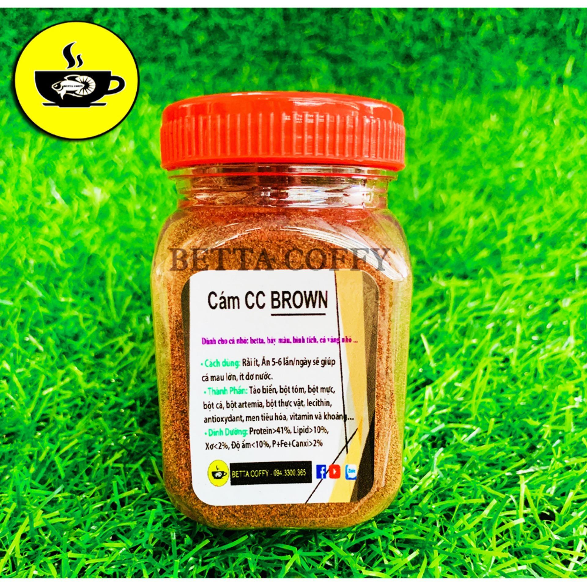 Thức ăn cho cá 7 màu & betta con - Cám CC Brown 50g