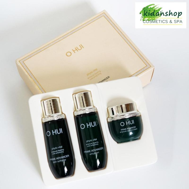 Set 3 món dưỡng da ngăn ngừa lão hóa, củng cố cốt lõi làn da, cải thiện nếp nhăn - Set Mini 3pcs Ohui Prime Advancer nhập khẩu