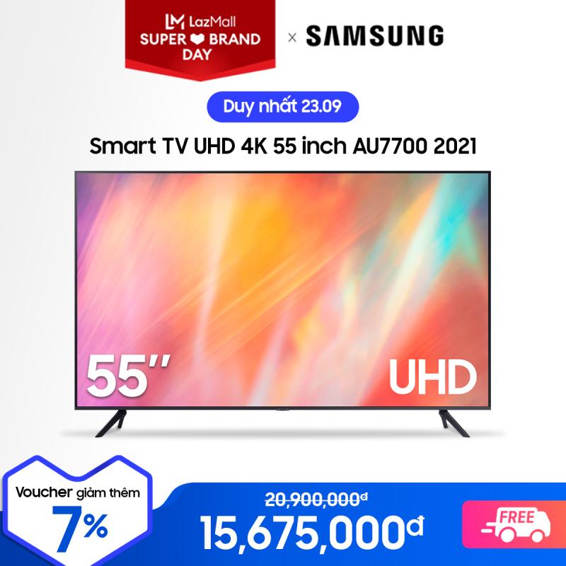 Bảng giá Smart TV Samsung Crystal UHD 4K 55 inch AU7700 2021
