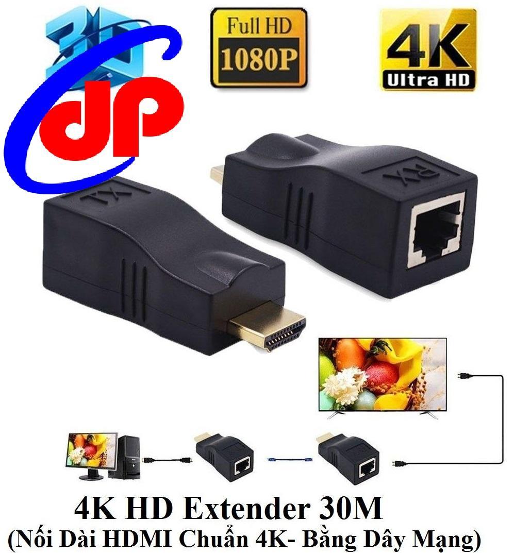 Giá 4K HD Extender 30M (Nối Dài HDMI Chuẩn 4K bằng Dây LAN 30m)