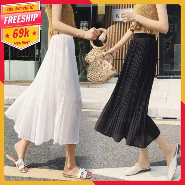 Chân váy xếp ly dáng dài siêu kute (hình thật và video)