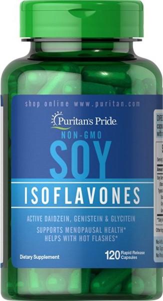 Chiết xuất mầm đậu nành, Viên uống đẹp da, tăng cường nội tiết nữ, tăng vòng 1 và khô hạn - Soy Isoflavones của Puritans Pride, 120 viên , giá rẻ