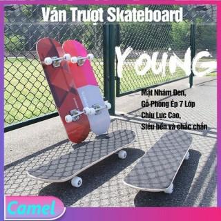 ( XẢ CƯC SỐC SALE 50% ) Ván Trượt Skateboard Mặt Nhám Đen, Gỗ Phong Ép 7 Lớp, Chịu Được Trọng Tải Tới 60kg, Ván Trượt Người Lớn- Kailas thumbnail