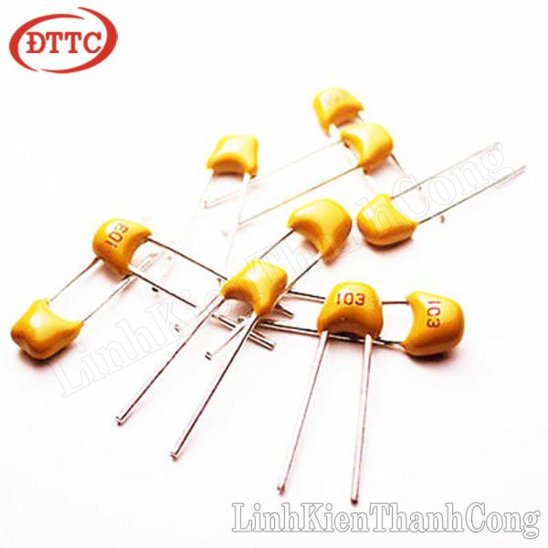 Bảng giá Bộ 35 Chiếc Tụ gốm vàng 103 0.01uF 50V