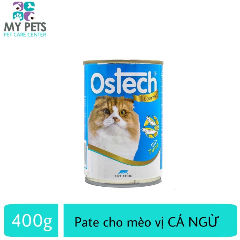 Thức Ăn Pate Ostech Cao Cấp Hương Vị Cá Ngừ Dành Cho Mèo - Lon 400g