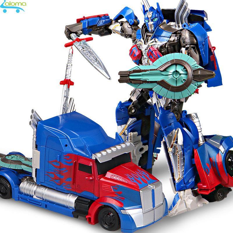 Robot biến hình ôtô Transformer mẫu Optimus Prime 601A phim The Last Knight cao 25cm Nhật Bản