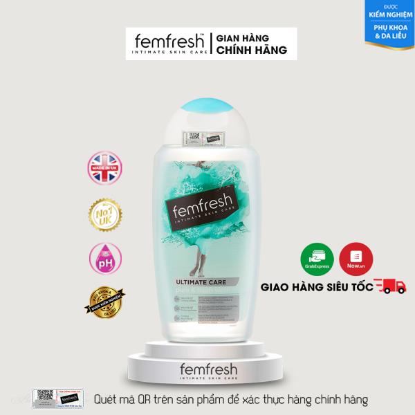 Dung Dịch Vệ Sinh Dành Riêng Cho Người Nhạy Cảm Giúp Vùng Kín Sạch, Thơm, Tươi Mới Femfresh Pure & Fresh Wash 250ml Anh Quốc