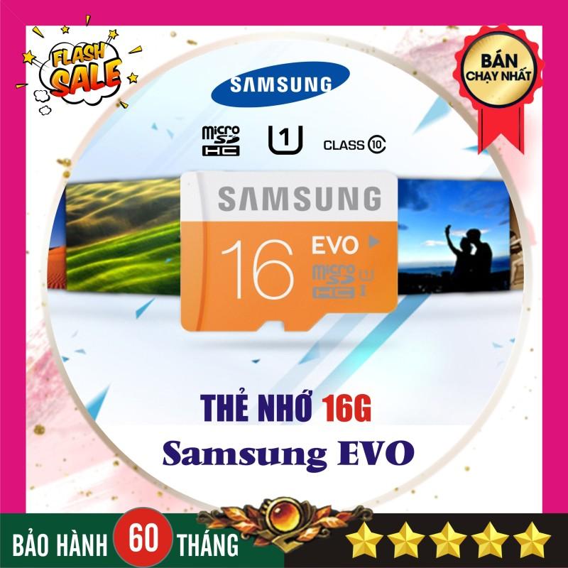 Thẻ nhớ 16GB Samsung Evo plus (Kèm Adapter SD) - Nhập khẩu Bảo hành 5 năm!