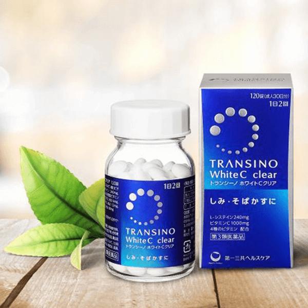 Viên uống Transino White C Clear 120 viên mẫu mới giá rẻ