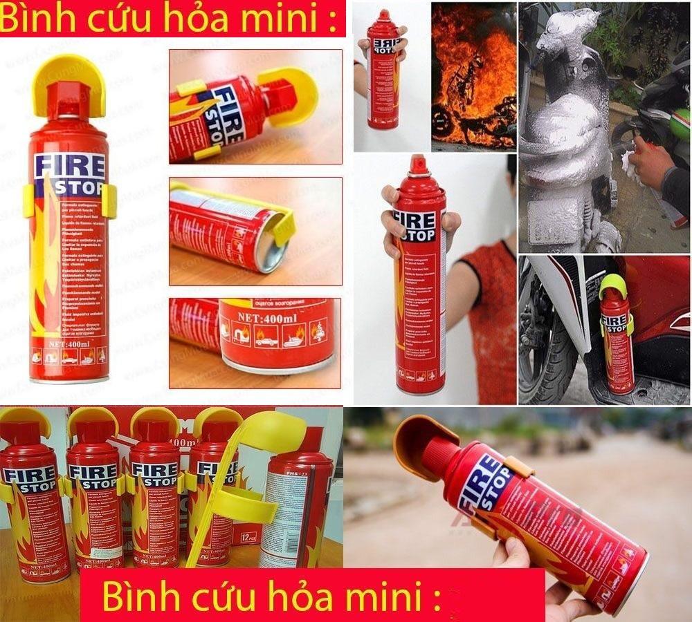 ( Có video )Bình Chữa Cháy Mini - Bình Cứu Hỏa khẩn cấp,bảo vệ an toàn về người và tài sản gia đình, Bình Cứu Hỏa Ô Tô 500ml