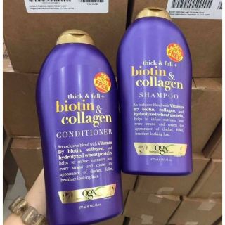 [Miễn phí vận chuyển] Combo dầu gội và dầu xả Thick & Full - Biotin & Collagen 577mlx2 thumbnail