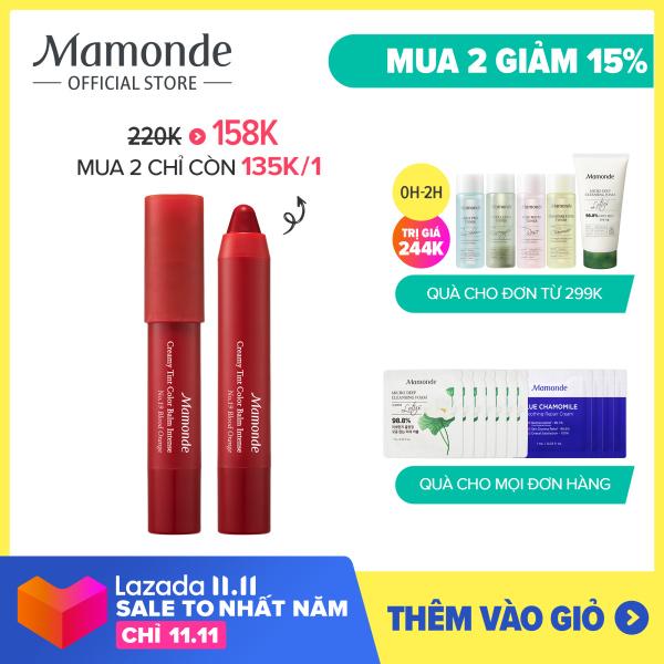 Son bút chì 3 in 1 cho bờ môi mềm mượt Mamonde Creamy Tint Color Balm Intense 2.5G nhập khẩu