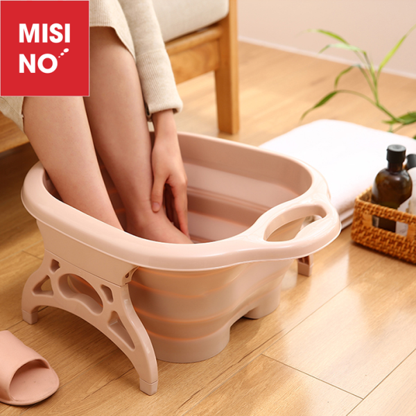 Chậu sục ngâm chân gấp gọn MISINO kèm dụng cụ Massage