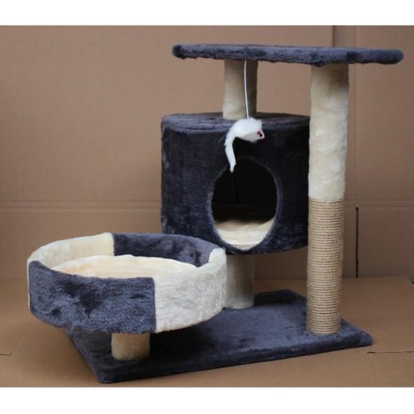 (Có Sẵn)Cattree Nhà Mèo 3 Tầng - Nhà Cây Cho Mèo