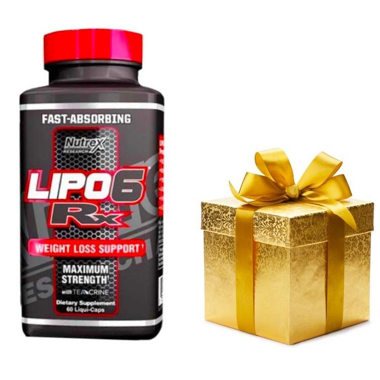 Thực phẩm chức năng hỗ trợ đốt mỡ Nutrex Research Lipo 6 Rx - Hộp 60 viên + tặng Dây nhảy hoặc bánh Protein