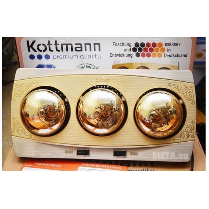 Đèn sưởi nhà tắm 3 bóng Kottman chính hãng ( bảo hành 2 năm)