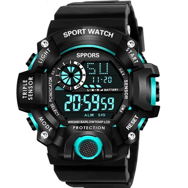 Đồng hồ Nam K1819 - Đồng hồ điện tử SPORTS cá tính dây silicon cao cấp đầy đủ các chức năng xem giờ , báo thức, lịch tuần, đồng hồ bấm giờ thể thao bán chạy