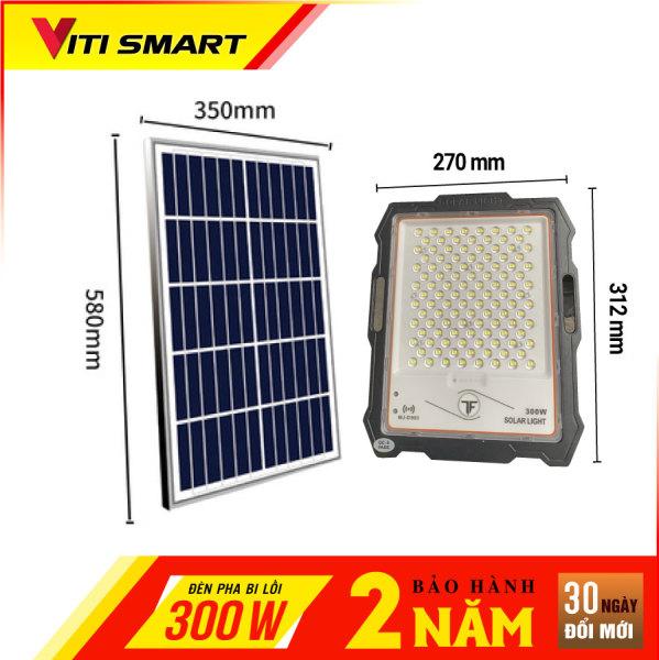 Bảng giá Đèn pha năng lượng mặt trời bi lồi 300W chính hãng
