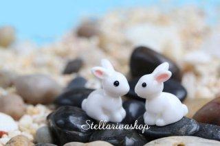 Mô hình thỏ trắng dễ thương trang trí tiểu cảnh, thủy sinh, terrarium, chậu cây cảnh, sen đá, bánh kem, xương rồng thumbnail