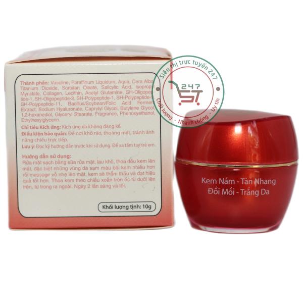 Kem Tàn nhang SON ngăn ngừa Đồi mồi - Nám - Trắng da nhau thai cừu - Collagen (Đỏ)