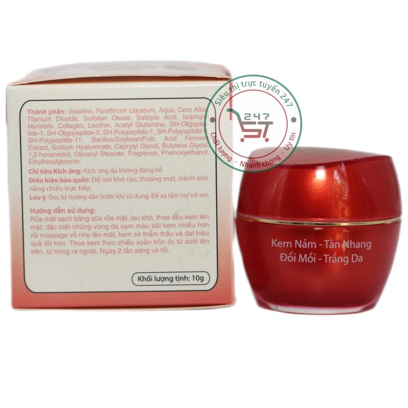 Kem Tàn nhang SON ngăn ngừa Đồi mồi - Nám - Trắng da nhau thai cừu - Collagen (Đỏ) giá rẻ