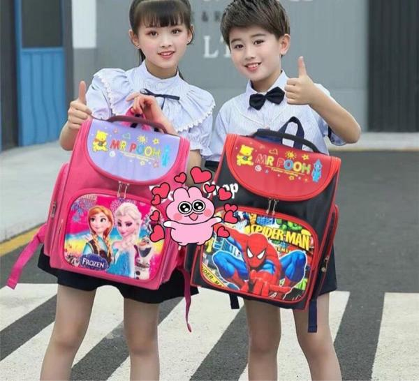 Giá bán Cặp Balo đi học chống gù lưng cho bé gái,bé trai gái cấp 1mẫu mới 2020 - balo đi học tiểu học - cặp học sinh – Siêu nhẹ- chống nước tặng kèm hộp bút