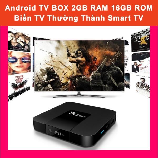 Bảng giá Android TV BOX TX3 mini 2GB RAM 16GB ROM Android 7.1 4K - Biến TV Thường Thành Smart TV