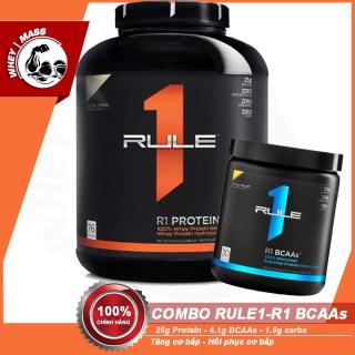 [COMBO] Tăng Cơ Bắp Hồi Phục Cơ Bắp Siêu Tiết Kiệm RULE 1 Protein 5lbs vs R1 BCAAs (30 lần dùng) - Từ Mỹ thumbnail