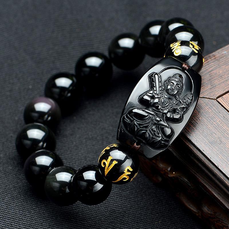 Vòng tay chuỗi thạch anh đá đen mặt Phật - mang đến may mắn, bình an cho người đeo