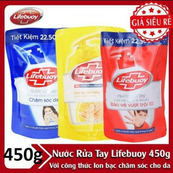 Nước rửa tay Lifebuoy 450g hàng đẹp chính hãng - nước rửa tay lifebouy túi 450gr nhập khẩu