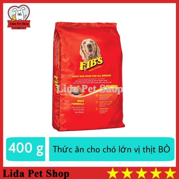 HN- Thức ăn cho chó lớn vị thịt bò - Thức ăn cho mọi loại chó trưởng thành - Fibs 400g - Lida Pet Shop