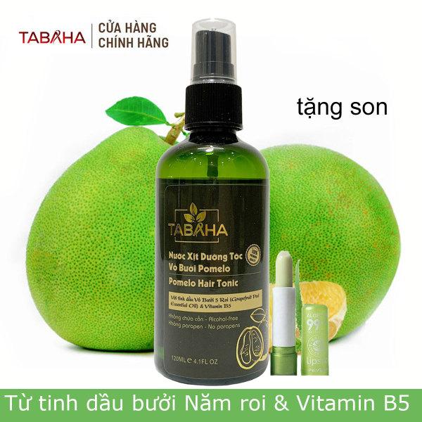 Xịt mọc tóc tinh dầu vỏ bưởi Pomelo Tabaha 120ml giúp ngăn rụng tóc Tặng son môi