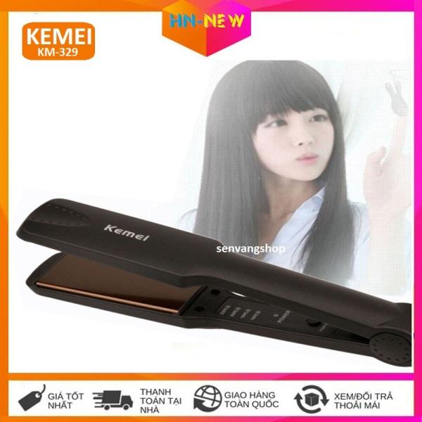 Máy ép tóc kemei KM-329, máy ép tóc mini giá rẻ 3 trong 1 siêu thẳng, máy là tóc làm tóc duỗi tóc kemei chất lượng như panasonic