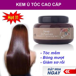 Ủ Tóc Cao Cấp, Kem Ủ Cao Cấp, Mặt Nạ Tóc. Kem ủ phục hồi tóc hư tổn. Giúp cho mọi kiểu tóc đều trở nên bóng khỏe và suôn mượt. Bảo vệ và giữu màu lâu bền. [MUA NGAY] thumbnail