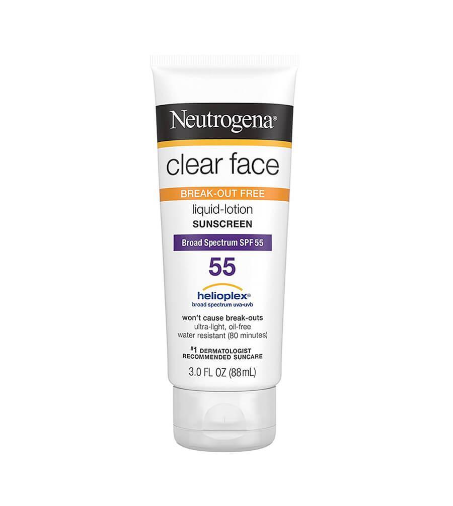 Kem Chống Nắng Neutrogena Clear Face Liquid-Lotion Sunscreen SPF 55 (88ml)