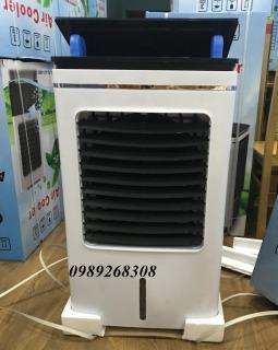 (Điều khiển từ xa, động cơ đồng) Quạt điều hòa công suất lớn 200W dung tích 40L- Quà tặng 2 viên đá khô- Làm mát bằng hơi nước giúp tiết kiệm điện- Máy làm mát an toàn tiết kiệm điện-Bảo hành 1 năm thumbnail
