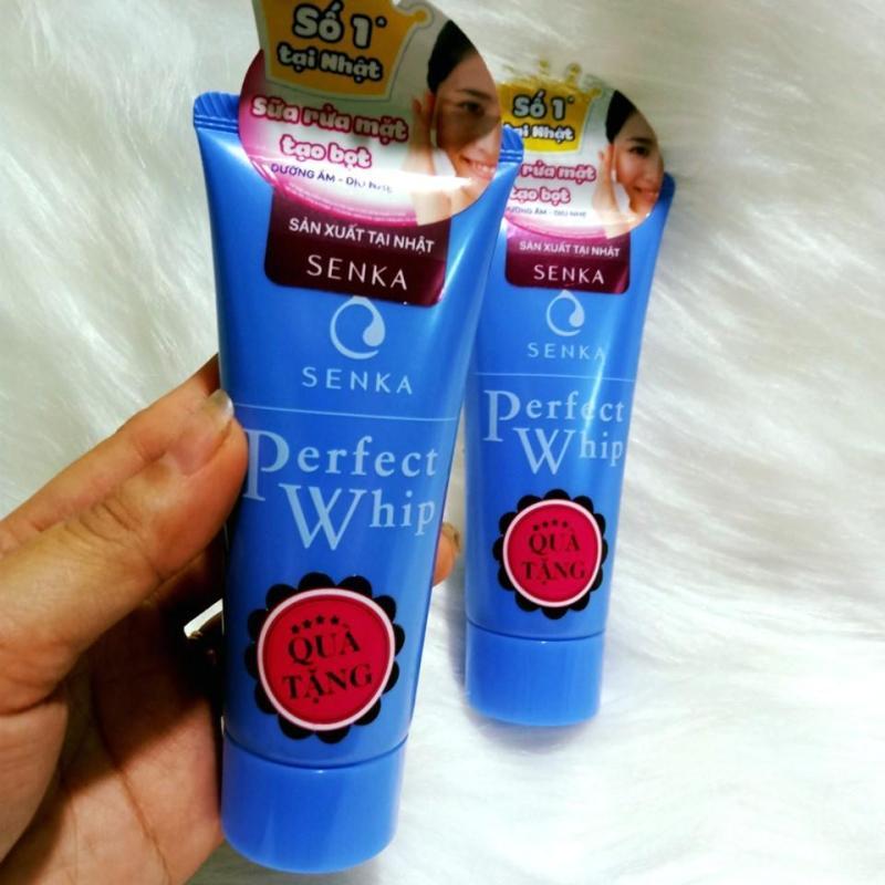 (50g - HSD 9/2022) Sữa Rửa Mặt Tạo Bọt Chiết Xuất Tơ Tằm Trắng Senka Perfect Whip