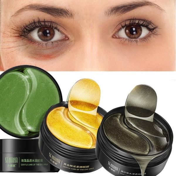 Hộp 60 miếng mặt nạ mắt SENANA từ collagen dưỡng ẩm chống nếp nhăn và quầng thâm