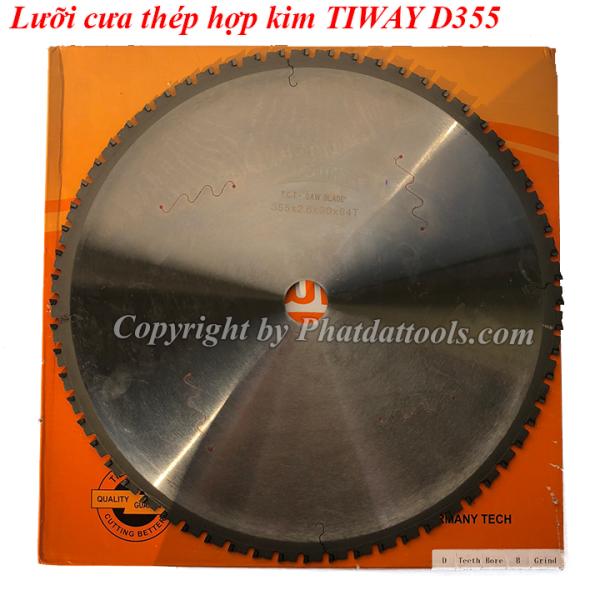 Lưỡi cưa hợp kim cưa thép  độ chậm TIWAY D355mm-64 răng