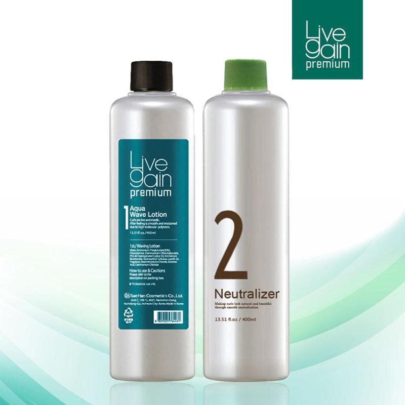 Uốn Nhanh Công Thức Mạnh Livegain Premium AQUA Wave Lotion 400ml + 400ml Hàn Quốc giá rẻ