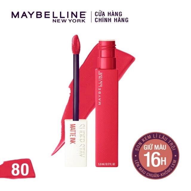 Son Kem Lì Maybelline New York Super Stay Matte Ink 80 Ruler 5ml