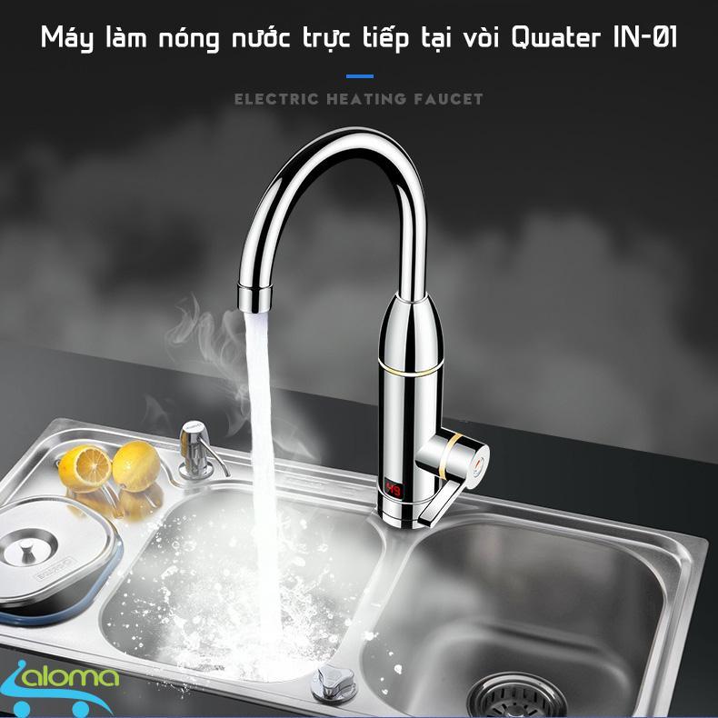 Bảng giá Máy nước nóng trực tiếp tại vòi Qwater IN-01 bằng inox kèm đầu chống giật chống rò rỉ nước