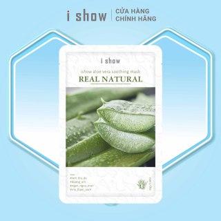 Mặt Nạ Dưỡng Ẩm, Ngừa Mụn Da Chiết Xuất Nha Đam ishow Aloe Vera Soothing Mask thumbnail