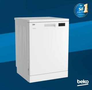 Máy rửa chén Beko 14 bộ DFN16410W (Trắng) - Tính năng rửa nhanh gấp 3 lần thông thường - Công suất 14 bộ - Nhập khẩu nguyên chiếc từ Châu Âu - Hàng chính hãng bảo hành  2 năm