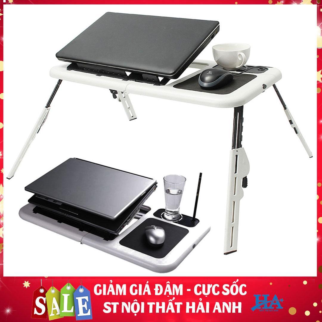 Bàn để Laptop có quạt tản nhiệt gấp gọn mang theo mọi nơi, bàn kê máy tính đa năng - GDHOAC119